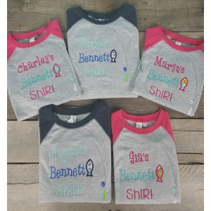 Custom Applique Kids Lake Shirt