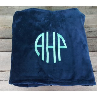 Plush Monogram Blanket
