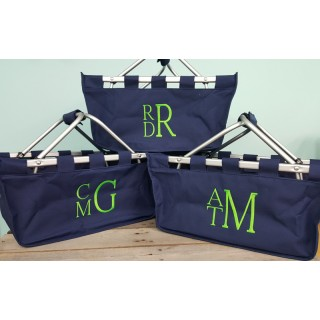 Navy Blue Market Tote large