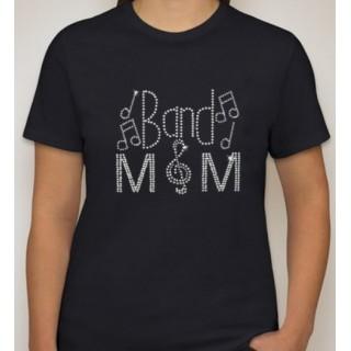 Ladies Short Sleeve Band Mom Rhinestone Shirt