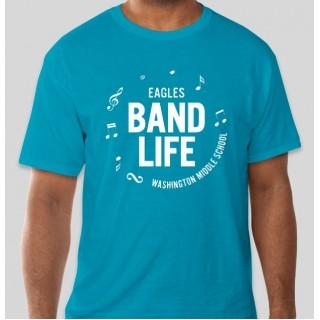WMS Bandlife Turquoise T shirt