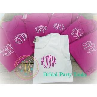 Bridal Party Tank Top Set