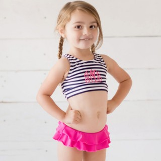 Girls Monogrammed Swimsuit Toddler