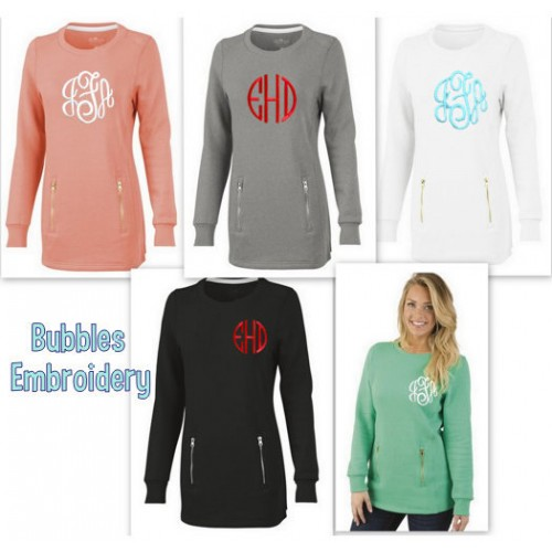 Charles River Monogrammed North Hampton Sweatshirt