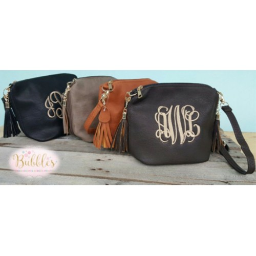 MONOGRAMMABLE Tassle Crossbody Purse