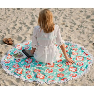 Round Beach Towel Sand Circle