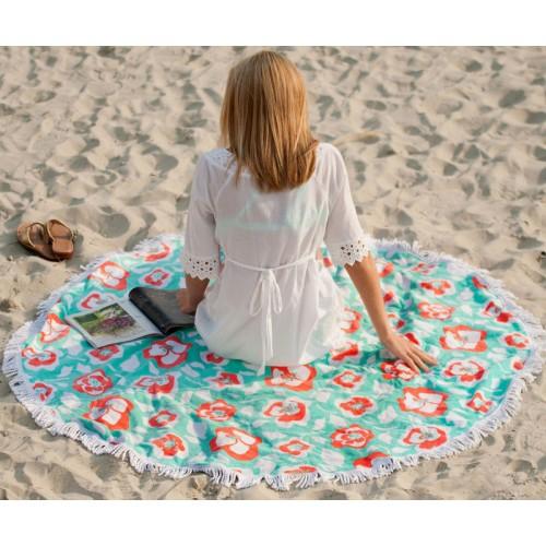Round Beach Towel Sand Circle