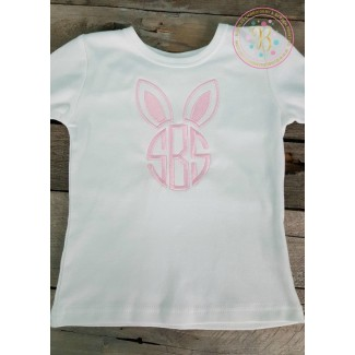 Childrens Easter Shirt or Onesie with Monogrammed Bunny Ears