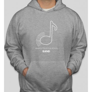 WMS Band gray hoodie