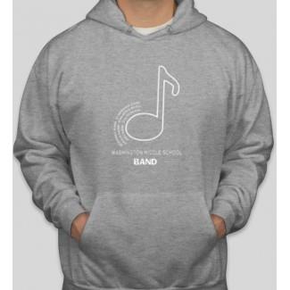 WMS Band gray hoodie