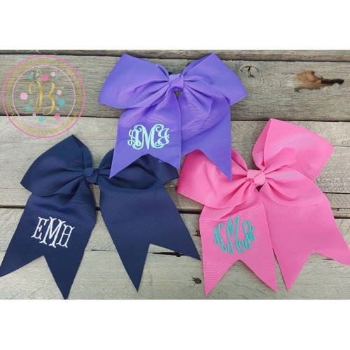 Girl's Monogrammed Hair Bow