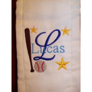 Baseball Burp Cloth