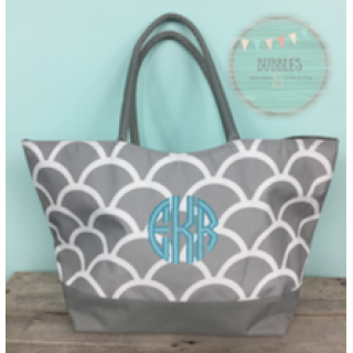 Large Gray Scaled Tote