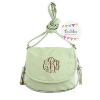 Mint Green Tassel Crossbody