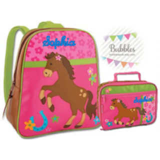 Stephen Joseph Horse Backpack and Lunchbox Set