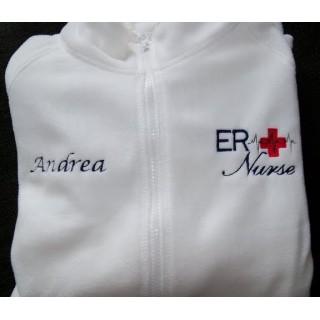 White ER Embroidered Jacket