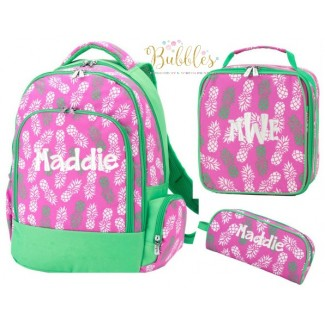Pineapple of My Eye 3 pc Backpack Set