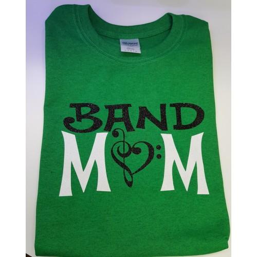 Green Glitter Band Mom Shirt
