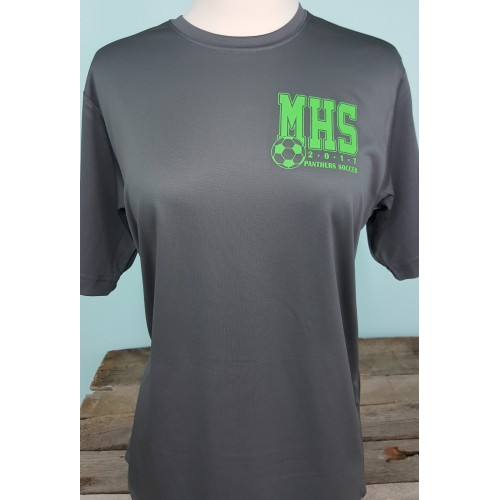 Mehlville Soccer Grey Dri Fit T-shirt