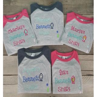 Custom Applique Kids Lake Shirt