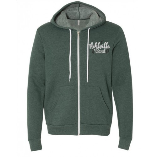 Mehlville Band Heathered Forest Full Zip Sweatshirt