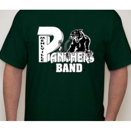 Mehlville Marching Band Forest Green Short Sleeve T Shirt