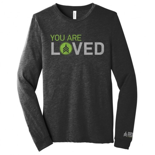 Harvest Bible Chapel Charcoal Black Long Sleeve Triblend Tee