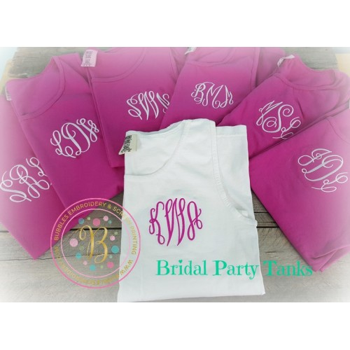 Bridal Party Tank Top Set