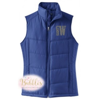Monogrammed Puffy Vest