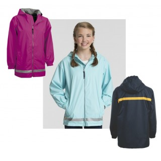 Charles River Youth Full Zip Rain Coat