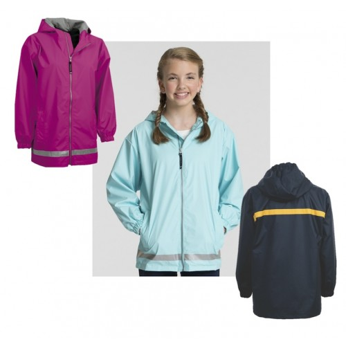 Charles River Youth Full Zip Rain Coat