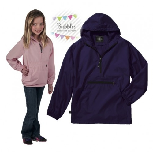 Charles River Youth Pull Over Rain Coat