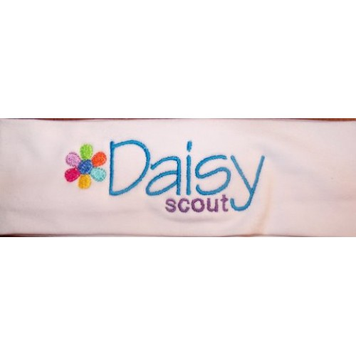 Daisy Scout Embroidered Stretch Headband