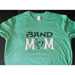 Green Glitter Band Mom Shirt
