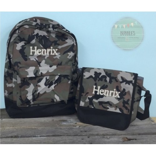 Camo Backpack Set