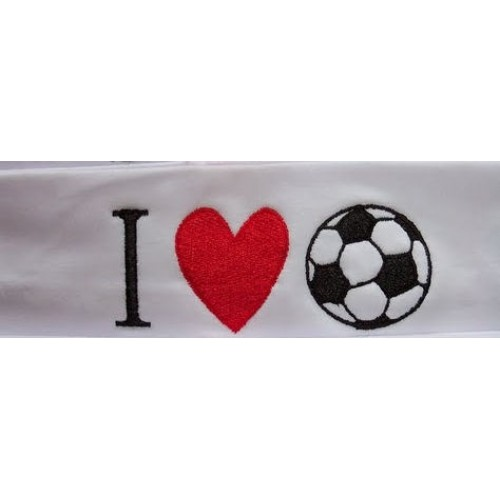 I Heart Soccer Headband