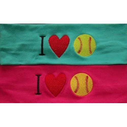 I Heart Softball Headband