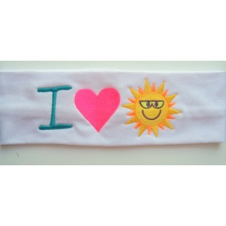 I Heart Sun Stretch Headband