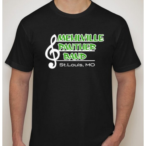 Mehlville Marching Band Black Short Sleeve T Shirt