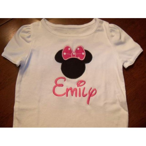 Minnie Mouse Embroidered T-shirt