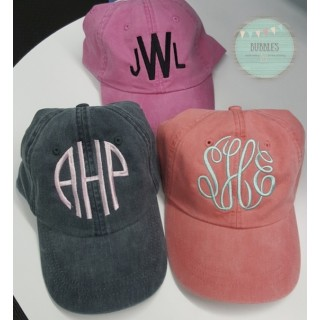Monogram Pigment Dyed Baseball Caps