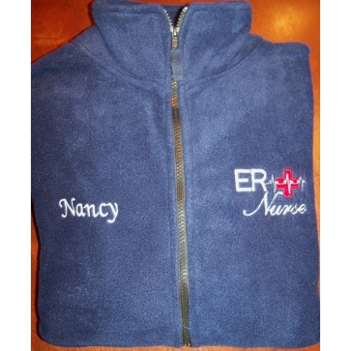 Navy ER Embroidered Jacket
