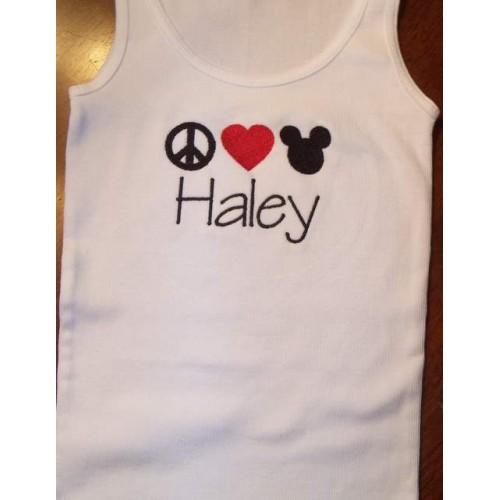 Peace Love Mickey T-shirt