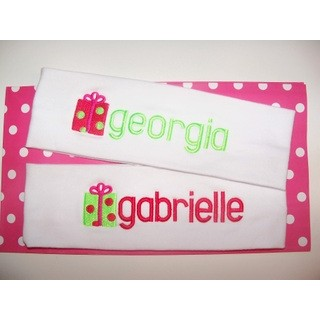 Personalized Embroidered Christmas Headbands