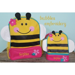 Stephen Joseph Bee Backpack and Lunchbox