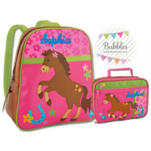 Stephen Joseph Horse Backpack and Lunchbox Set