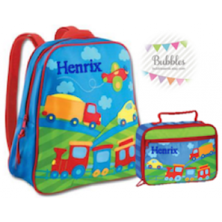 Stephen Joseph Transportation Backpack and Lunchbox Set