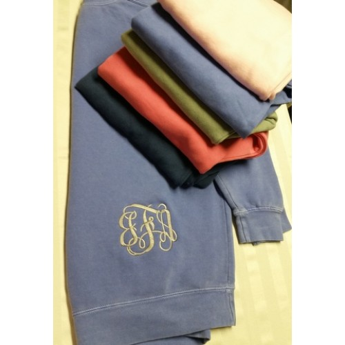 Sweatshirt with Bottom Left Monogram